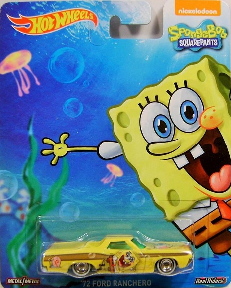 Hot Wheels 2015 1:64 Pop Culture SpongeBob Squarepants Case A SQUIDWARD 34 DODGE